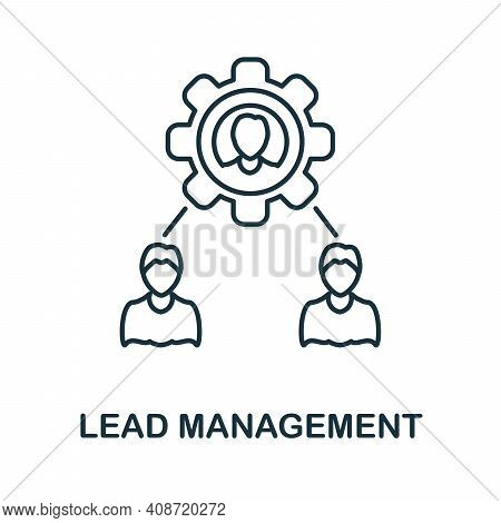 Lead Management Icon. Simple Element From Management Collection. Creative Lead Management Icon For W