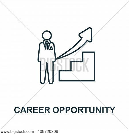 Career Opportunity Icon. Monochrome Simple Career Opportunity Icon For Templates, Web Design And Inf
