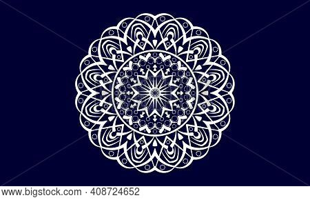 Hand-drawn Mandala Of Vector Illustration. Hand-drawn Background. Islam, Arabic, Indian, Ottoman Mot