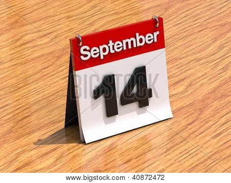 Calendar On Desk - September 14Th