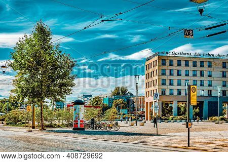 Dresden, Germany-september 08, 2015 :city Views One Of The Most Beautiful City Germany- Dresden. Dre