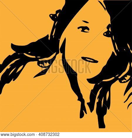 Woman Vector Illustration Isolated On Background , Pretty, Sensuality, Sexy
