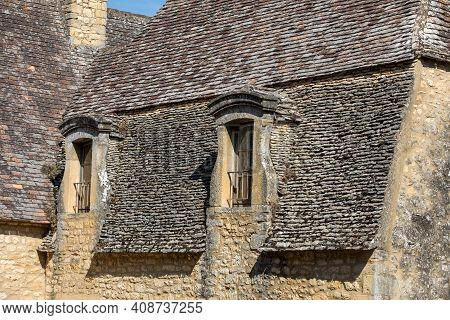 Beynac Et Cazenac, France - September 4, 2018: Medieval Village Of Beynac Et Cazenac, Dordogne Depar