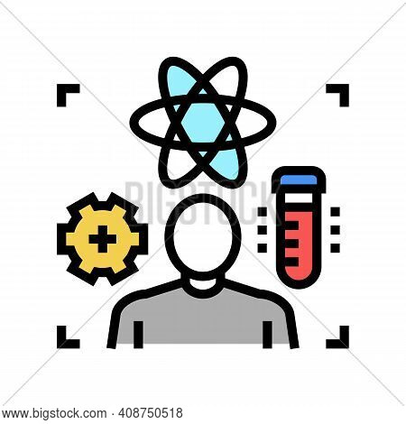 Science Expert Color Icon Vector. Science Expert Sign. Isolated Symbol Illustration