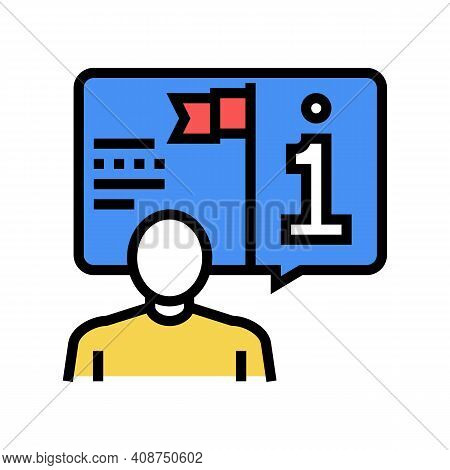 Information Expert Color Icon Vector. Information Expert Sign. Isolated Symbol Illustration