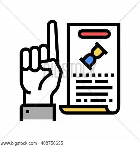 Opinion Expert Color Icon Vector. Opinion Expert Sign. Isolated Symbol Illustration