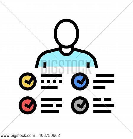 Characteristics Skill Color Icon Vector. Characteristics Skill Sign. Isolated Symbol Illustration
