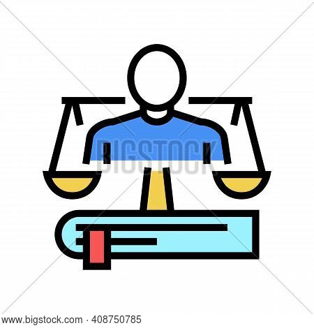 Lawyer Expert Color Icon Vector. Lawyer Expert Sign. Isolated Symbol Illustration