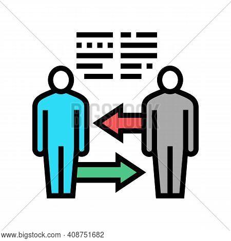 Exchange Skills Pr Color Icon Vector. Exchange Skills Pr Sign. Isolated Symbol Illustration
