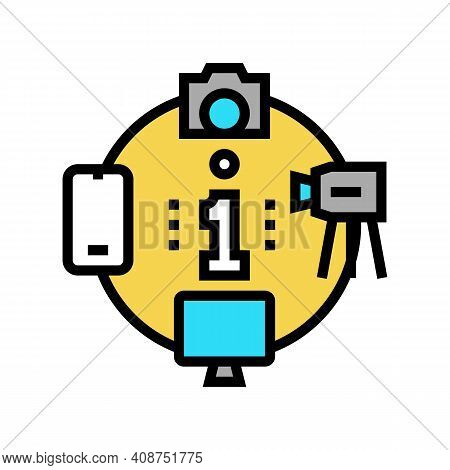 Mass Media Color Icon Vector. Mass Media Sign. Isolated Symbol Illustration