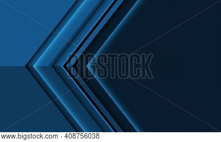 Abstract Deep Blue Arrow Metallic Direction With Blank Space Design Style Modern Futuristic Backgrou