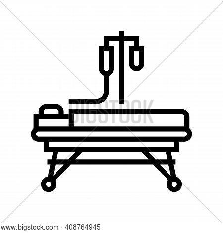 Resuscitation Stretcher Line Icon Vector. Resuscitation Stretcher Sign. Isolated Contour Symbol Blac