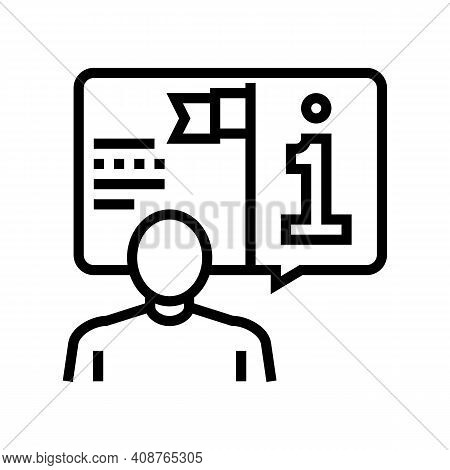 Information Expert Line Icon Vector. Information Expert Sign. Isolated Contour Symbol Black Illustra