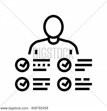 Characteristics Skill Line Icon Vector. Characteristics Skill Sign. Isolated Contour Symbol Black Il