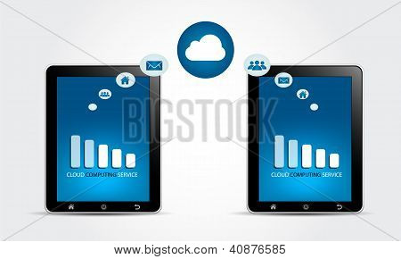 Cloud Computing Service Concept
