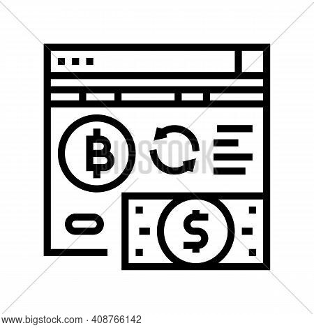 Crowdfunding Ico Line Icon Vector. Crowdfunding Ico Sign. Isolated Contour Symbol Black Illustration