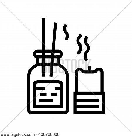 Aroma Therapy Accessories Line Icon Vector. Aroma Therapy Accessories Sign. Isolated Contour Symbol