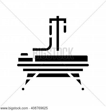 Resuscitation Stretcher Glyph Icon Vector. Resuscitation Stretcher Sign. Isolated Contour Symbol Bla