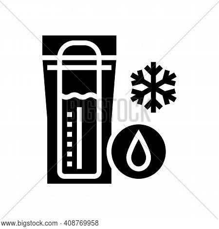 Freezing Milk Storage Glyph Icon Vector. Freezing Milk Storage Sign. Isolated Contour Symbol Black I