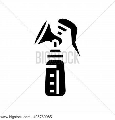 Breast Milk Pump Glyph Icon Vector. Breast Milk Pump Sign. Isolated Contour Symbol Black Illustratio