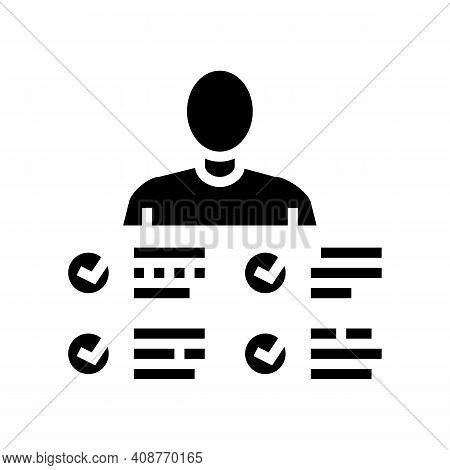 Characteristics Skill Glyph Icon Vector. Characteristics Skill Sign. Isolated Contour Symbol Black I