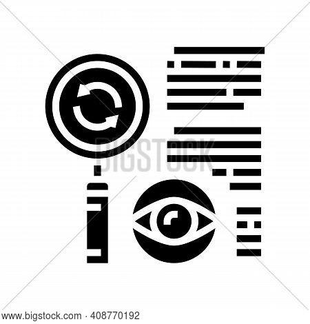 Recheck Expert Glyph Icon Vector. Recheck Expert Sign. Isolated Contour Symbol Black Illustration