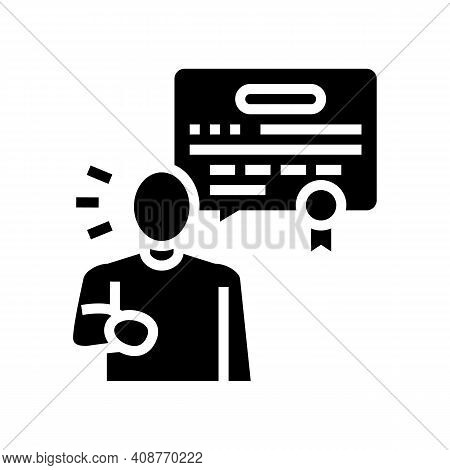 Judgment Expert Glyph Icon Vector. Judgment Expert Sign. Isolated Contour Symbol Black Illustration