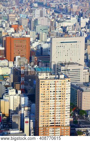 Nagoya, Japan - April 28, 2012: Aerial View Of Modern City In Nagoya, Japan. Nagoya Is The 4th Large