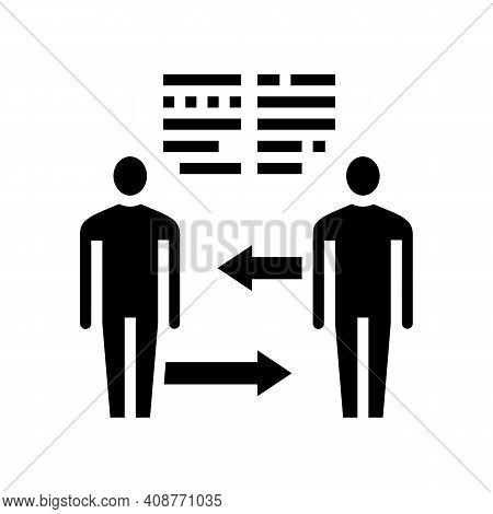 Exchange Skills Pr Glyph Icon Vector. Exchange Skills Pr Sign. Isolated Contour Symbol Black Illustr