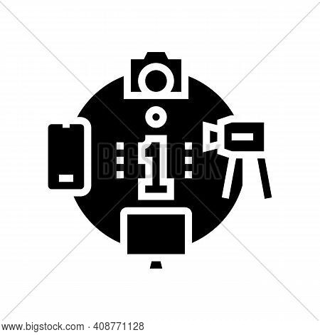 Mass Media Glyph Icon Vector. Mass Media Sign. Isolated Contour Symbol Black Illustration