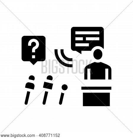 Interview Pr Glyph Icon Vector. Interview Pr Sign. Isolated Contour Symbol Black Illustration