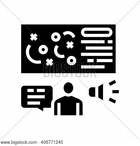 Pr Strategy Glyph Icon Vector. Pr Strategy Sign. Isolated Contour Symbol Black Illustration