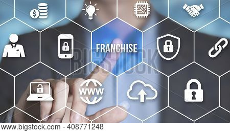 Internet, Business, Technology And Network Concept. Franchise Concept.
