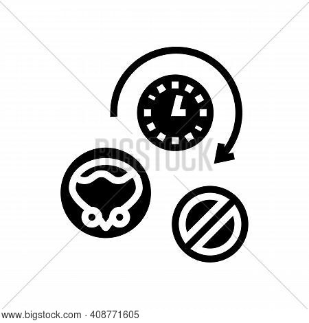 Long Time Without Urination Glyph Icon Vector. Long Time Without Urination Sign. Isolated Contour Sy