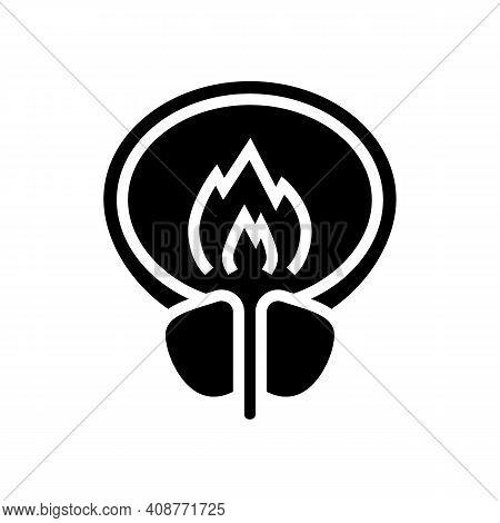Burning Pain Bladder Glyph Icon Vector. Burning Pain Bladder Sign. Isolated Contour Symbol Black Ill