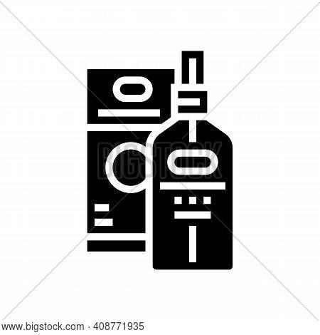 Essential Oil Glyph Icon Vector. Essential Oil Sign. Isolated Contour Symbol Black Illustration