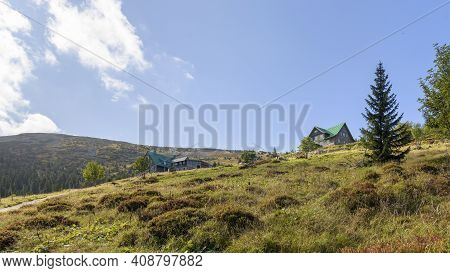 Buildings Of The Shelter Under Labski Szczyt Mountain In Polish Giant Mountains