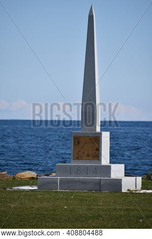 The 1614 Monument At Rye Harbor State Park In Rye, New Hampshire