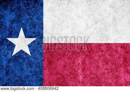 Metallic Texas State Flag, Texas Flag Background Metallic Texture