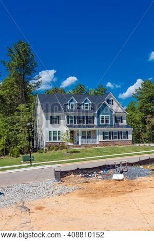 Real estate growth and construction of luxury homes in North Carolina, USA