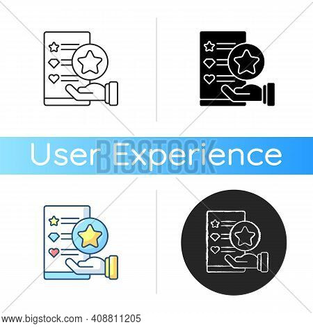 Usability Evaluation Icon. Product-user Interaction. User Satisfaction With Product Discovering Proc