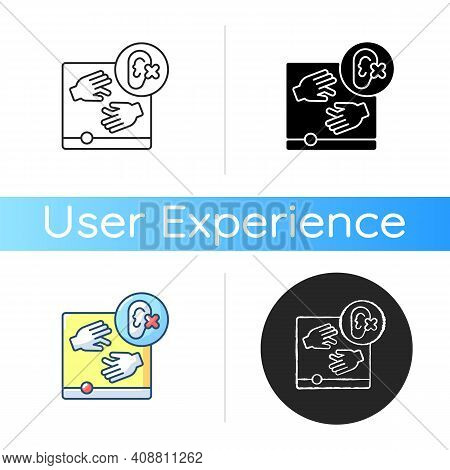 Accessibility Icon. Product Access For People With Disabilities. Users Pleasure And Satisfaction Wit