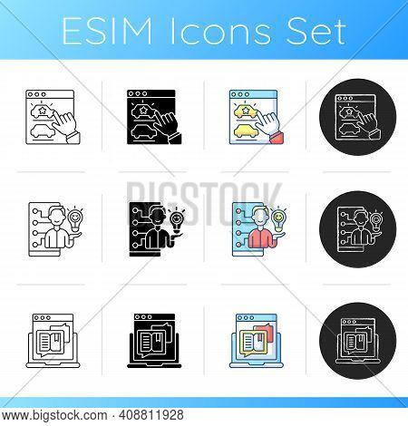 Ux Design Icons Set. Desirability. Emotional Design. Product Development Process. Customer Emotional
