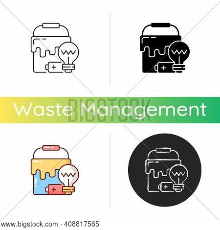 Special Waste Icon. Solid And Semi-solid Materials. Waste With Hazardous Properties. Additional Disp