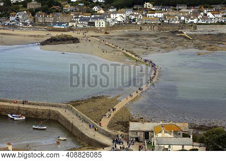St Michael's Mount (england), Uk - August 16, 2015: A View From St Michael's Mount Abbey, Cornwall,