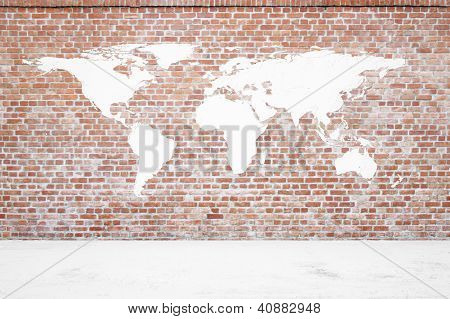 Red Brickwall With Earth Plaster