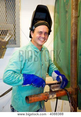 Portrait Of Friendly Welder
