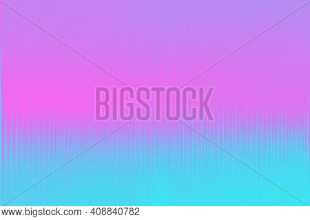 Abstract Pink And Blue Neon Background With Vertical Lines. Simple Parallel Vertical Lines Pattern.