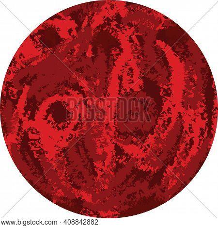 Mars Simple Vector Illustration. Red Planet Clip Art.