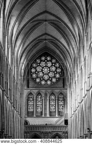 Truro.cornwall.united Kingdom.february 20th 2020.view Of The Inside Of Truro Cathedral In Cornwall.
